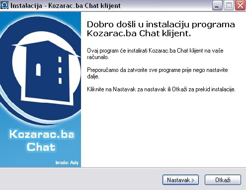 Kozarac.ba Chat aplikacija