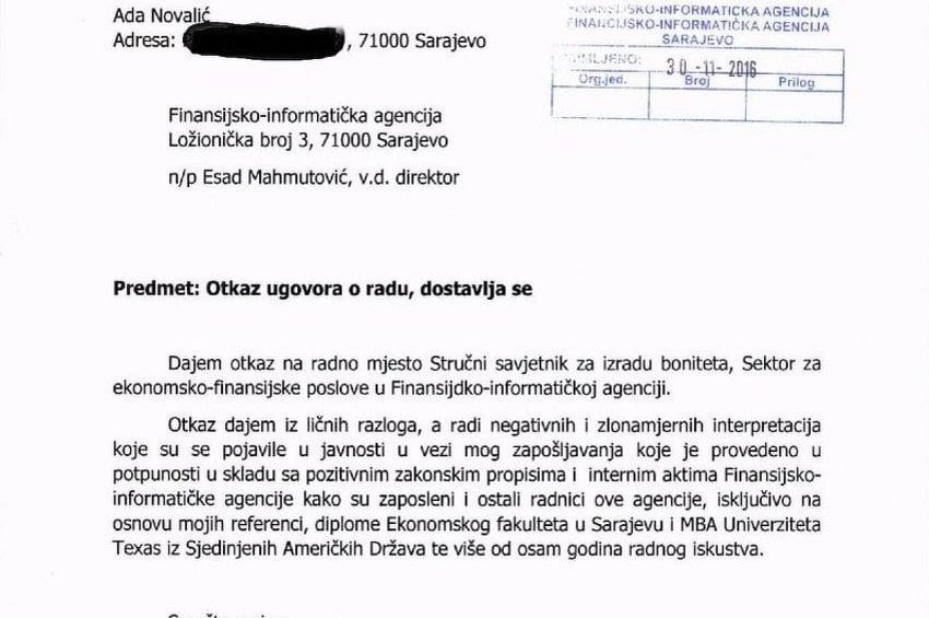 Ada Novalic Otkaz